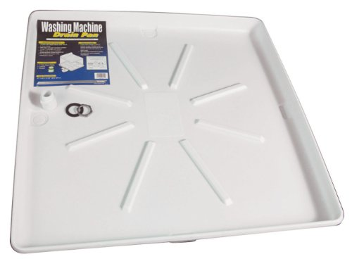 Camco 20752 30-Inch by 32-Inch Washing Machine Pan, White