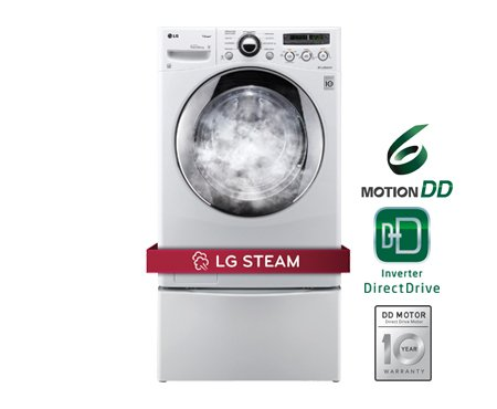 LG 3.6 Cu. Ft. White Front Load Steam Washer Reviews – WM2650HRA