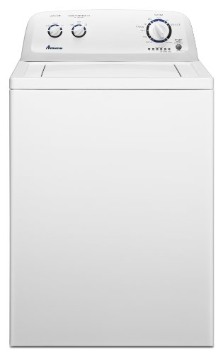 Amana 3.4 cu. ft. Top-Load Washer with Sprekle Porcelain Wash Basket, NTW4600YQ, White