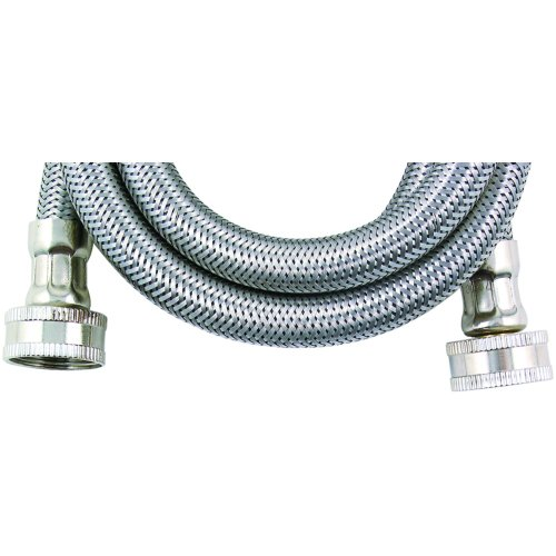 Loyal WMS4-C000674 Braided 3/8-Inch Washing Machine Connector, Stainless Steel