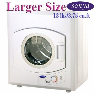 Sonya Portable Compact Laundry Dryer Apartment Size 110V 13lbs/3.75 cu.ft.-larger size