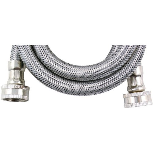 Savard WMS8-C000680 Braided 8-Feet 1/2-Inch Washing Machine Connector, Stainless Steel